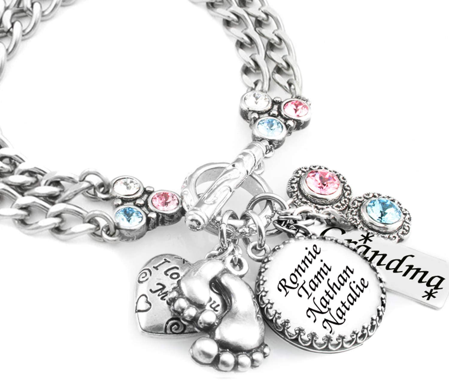 Mothers Charm Bracelet: Jewelry For Mom Mother's Bracelet Nana