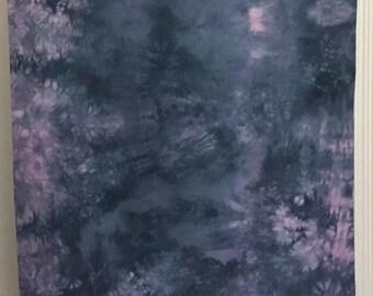 Hand Dyed Fabric - Hydrangea - 1 yard -  Modern Shibori Cotton - 311