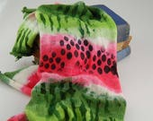 "Single knit sock blanks - ""Watermelon"""