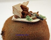 Reserved *12th scale handmade miniature Kiwi fruit.* RESERVED for minteriors