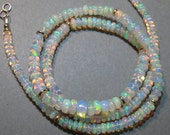Ethiopian Opal Bead  necklace........ AAA Grade ........    approx 18  inch .........      e905