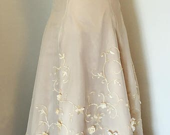 Floral Wedding Gown ~ OOAK, Ivory & Champagne Blossom