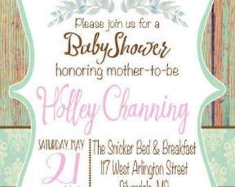 Baby Shower Invite, Birthday Party Invite, Wedding Invite, Rehearsal Dinner Invite, Save the Date, Engagement Party Invite, Announcement