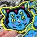 "Scuzzball Cat Vinyl Sticker - 3"" Diecut Weatherproof Sticker Indoor/Outdoor"
