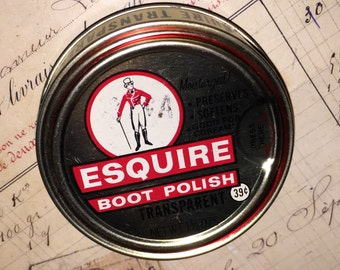 Vintage Esquire Boot Polish Can