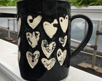 Black Heart Mug