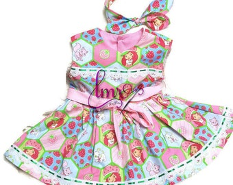 Child Strawberry Shortcake Dress Size 2 and Headband