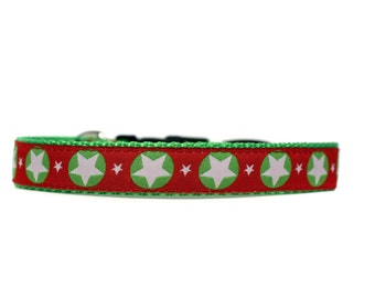 Holiday Hero 5/8 or 3/4 Inch Wide Dog Collar with Adjustable Buckle or Martingale