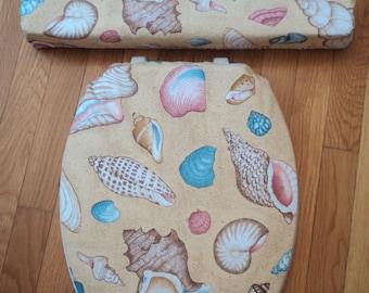 Seashells Beach House Decor... Toilet Seat Cover Set