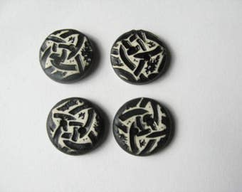 Ceramic Buttons with Celtic Knot