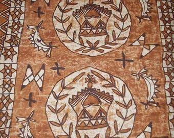 Vintage Polynesian fabric piece