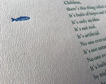Graham Swift Letterpress Quotation Poster