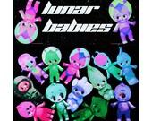 kewpie doll stickers cute big eye alien astronauts boopsiedaisy sticky poos
