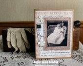 Bundle of Joy Baby card,handmade card,collage card,