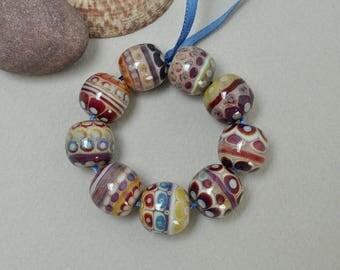 Berries, biggish - Lampwork beads by Loupiac