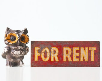 Vintage Sign, For Rent