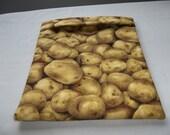 Microwave Potato Bag, Large, Potato Bag, Potato Print, Tan Potato Sack, Baked Potato Bag, Handmade, Kitchen Utensil, Cotton, Gift