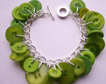 Button Bracelet Zesty Tropical Lime