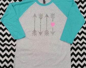 Valentines Glitter Arrow Shirt
