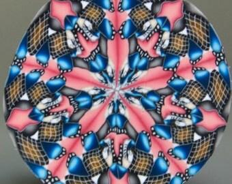 HALF PRICE SALE -Polymer Clay Circle Kaleidoscope Cane (27ee)