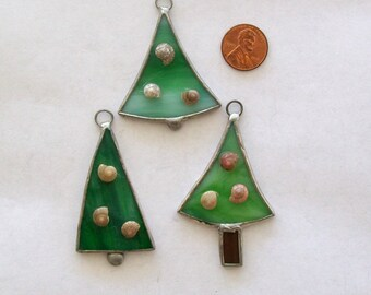 Sea shell Christmas tree ornament set tropical stained glass Christmas ornaments