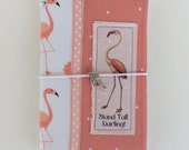 CLEARANCE SALE - Flamingo Stand Tall Darling Fieldnote Size Fabric Fauxdori  #2