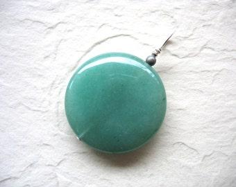 Aventurine Pendant, Green Aventurine, Handmade Artisan Jewelry, Gemstone Jewelry, Stone Pendant, Aventurine Jewelry, luminous creation