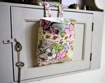 Thread Catcher -  Craft Caddy -  Patchwork Floral -  Handmade