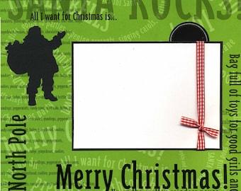 Santa Rocks - Premade Christmas Scrapbook Page