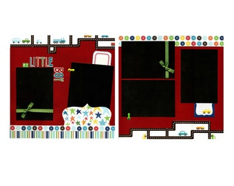 My Little Boy - Two Premade Scrapbook Pages