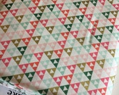 Pink Gold fabric, Pink Gold Nursery fabric,  Gold Dress fabric, Tribal fabric, On Trend Triangles, Woodland Nursery Decor, Choose Your Cut