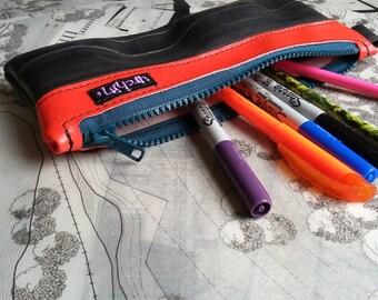 Pencil case - Bike tube purse - Makeup bag