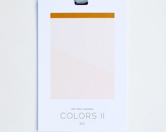 2017 Calendar - Colors II
