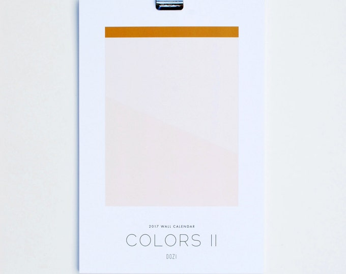 2017 Calendar - Colors II