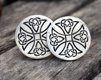 Celtic Knot Pewter Cufflinks