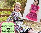 45% OFF Ruffle Peasant Dress Sewing Pattern for girls sizes newborn through 12 youth PDF Whimsy Couture