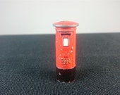 Vintage Dinky Toys Miniature Red British Royal Mail Pillar Post Box Toy