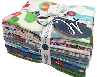 SALE Fabric Windham Farm Fat Quarter Bundle 15 FQs Precut Cotton Fabric Quilting Jackie Shapiro French Bull