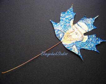 Vincent Van Gogh, tribute, self portrait, interpretation, original painting, autumn leaf, fine art, Maple Leaf