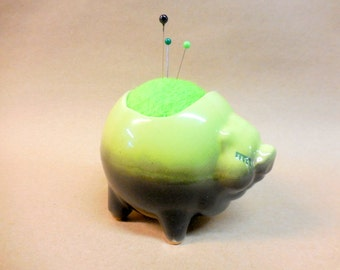 Vintage Piggie Planter Pin Cushion