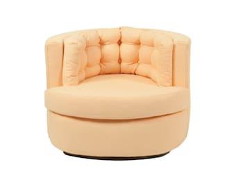 MOVING SALE - Mini Cantaloupe Swivel Chair