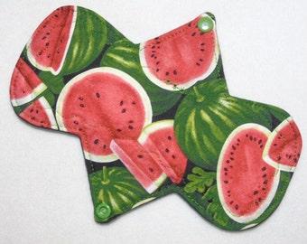 "8"" Heavy - Watermelons - Reusable Cloth Menstrual Pad (8HC)"