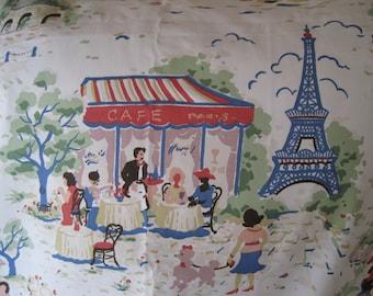 Home Decor Fabric P Kaufmann Eiffel Tower Venice London Holiday 2 Yards