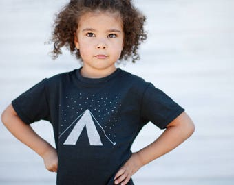 Wanderlust Camping Shirt, Boys or Girls, Christmas Gift for Kids, New Dad Gift, Toddler Tshirt, Unisex Kids Clothing Gift, Son or Daughter