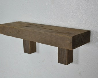 Shelf from reclaimed wood 14 x  4.5 x 5 simple and natural Free shipping