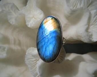 Beautiful Labradorite Ring Size 5.5