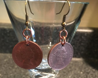 Copper Penny Earrings