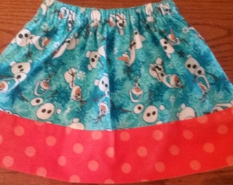 CHRISTMAS SNOWMAN SKIRT size 3/4 ready to ship need another size...just ask