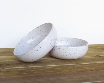 Wedding Registry for Alex & John - Stoneware Pottery Soup Bowls in Glossy White Glaze - Set of 2, Made To Order