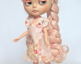 Pink Orchid dress for blythe, Poppy Parker, Misaki, Nuface....